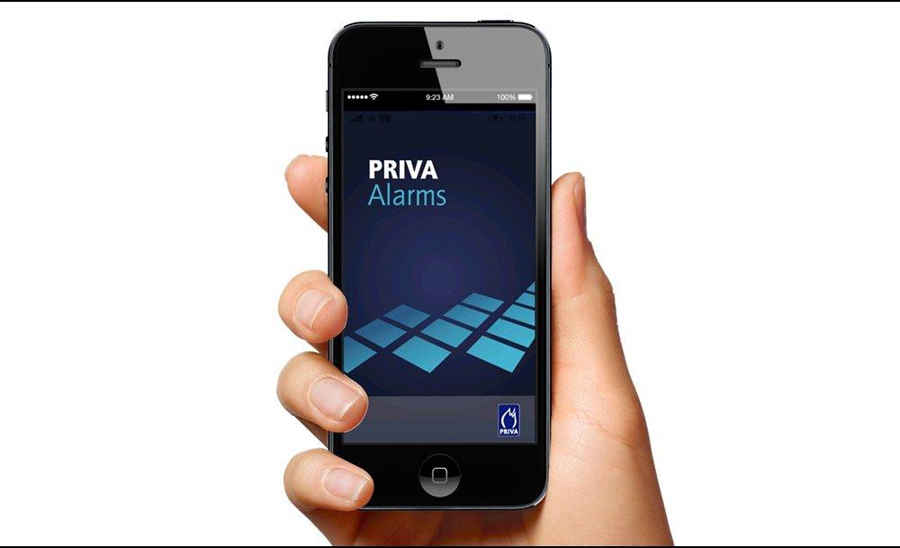 Priva Alarms app.