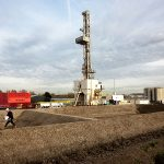 Trias Westland geothermal project drilling tower