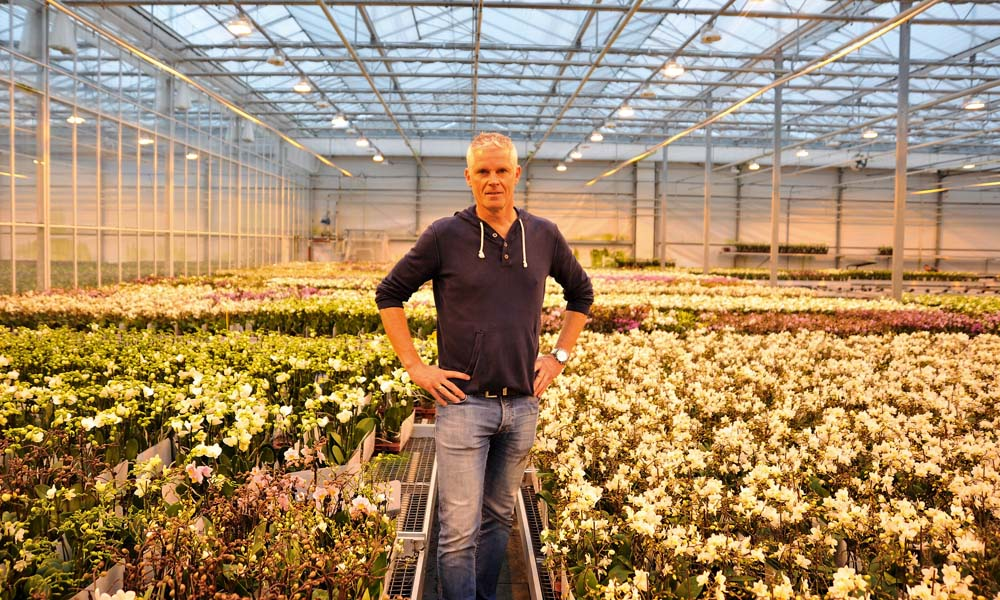 Grower Rob Olsthoorn of OK Plant deliberately opted for a triple screen for his new greenhouse so as to make it as closed an environment as possible.