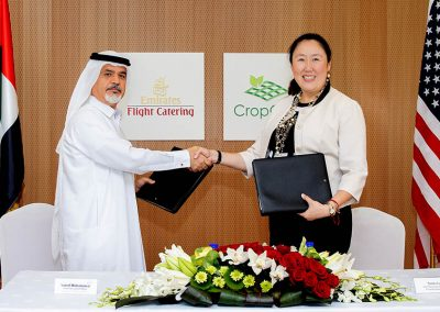 Emirates Flight Catering invests 40 million dollar to build the world's largest vertical farming facility.
